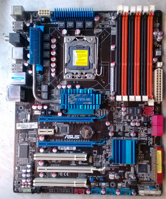 ASUS P6T SE 1366 Pin X58 Motherboard Support X5650 5670 W3690 Can Be Overclocked, Used Motherboard
