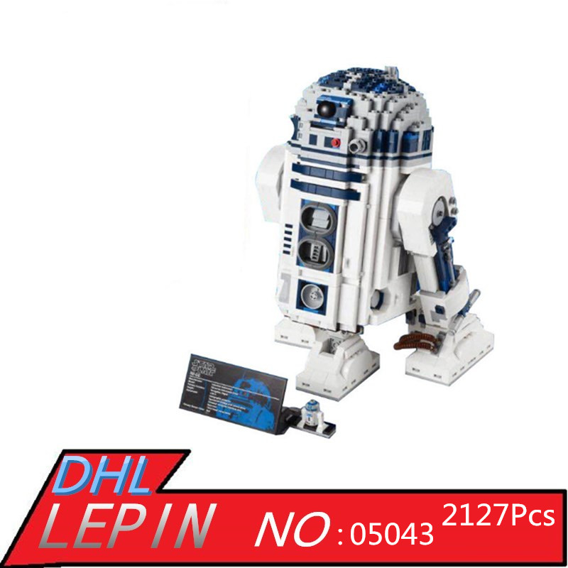 Robot Building Blocks LEPIN 05043 2127Pcs Star Series Wars R2-D2 Bricks Model Educational Toys 10225 Children Boys Toys Gifts футболка классическая printio r2 d2 star wars