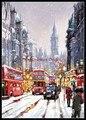 Рукоделие для вышивки DIY DMC высокое качество-счетный набор крестиков 14 ct картина маслом-Лондон зима