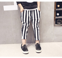 2 7 Yrs Cotton Kids Pants 2016 Spring Girls Boys Striped Pants Children Trousers Baby Harem