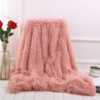 Large Sofa Bed Blanket Cover for Kids Baby Bath Towel Soft Warm Fur Shaggy Fluffy Throw Plush Blanket Home Winter Warmer Blanket