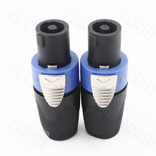 цена на 30pcs/lot High Quality NL4FC SPEAKON Audio Ohn Socket With Cable 4 Pin Professional Speaker Connector