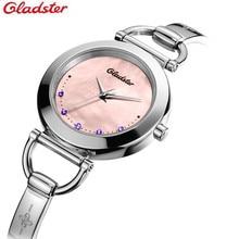 Relojes mujer 2016 часы дамы Gladster женщин Драгоценный Браслет золотые часы Класса Люкс horloge дамы Женские Часы Fashion Часы