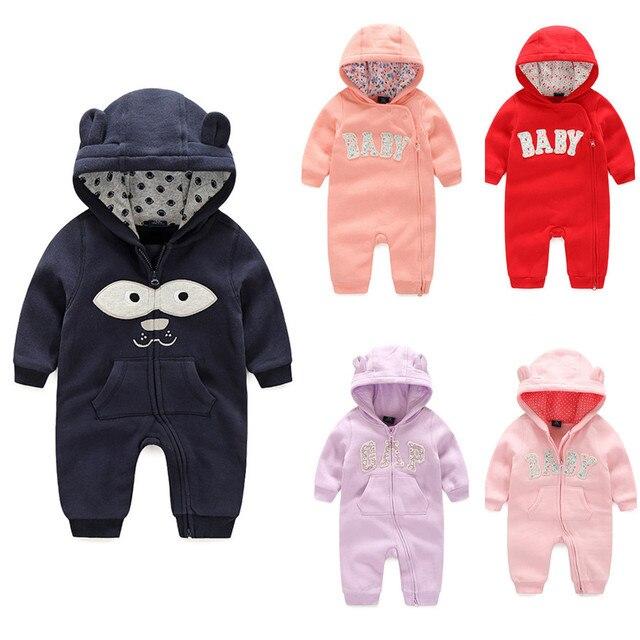 2017 Orangemom весной Новорожденных Девочек одежда Звериный стиль толстовки младенческой ребенка комбинезон, 10 цвета Младенца хлопка Костюм bebes Infantil