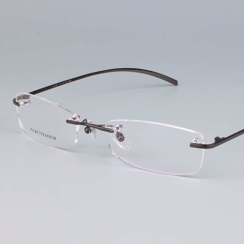 1bb197ab3b Receta FramesTitanium Marco Sin Montura Gafas de Diseño de Calidad ...