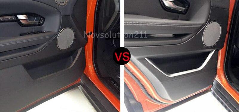 Auto Inner Door Strip Trim 4pcs For Range Rover Evoque 2011-2016