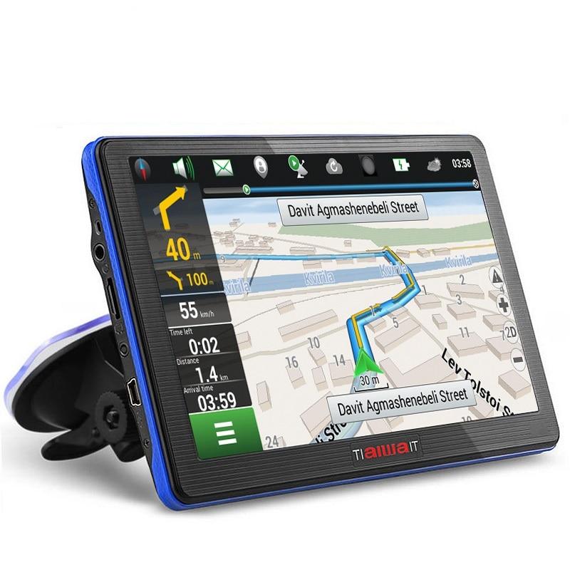 7 дюймов HD Автомобильный GPS навигации емкостный Экран bluetooth fm построен в 8 ГБ/256 ...
