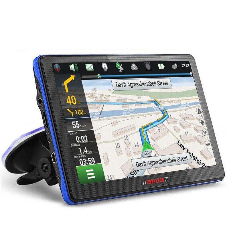 7 palcový HD Auto GPS navigace Kapacitní obrazovka Bluetooth FM Vestavěná 8GB / 256M dotyková obrazovka Mapa Zdarma Upgrade sat sat nav GPS
