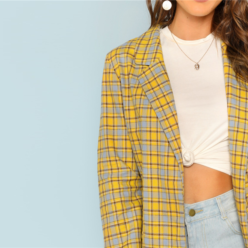 Blazer Dukes amarillo moderno de oficina Paraíso de la Moda | PdM