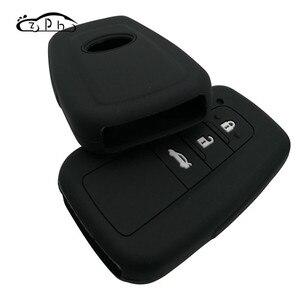 Image 5 - Housse de clé télécommande en Silicone pour voiture, pour Toyota Camry Prado 2017 et 2018 CHR Prius Corolla RAV 4, coque de clé