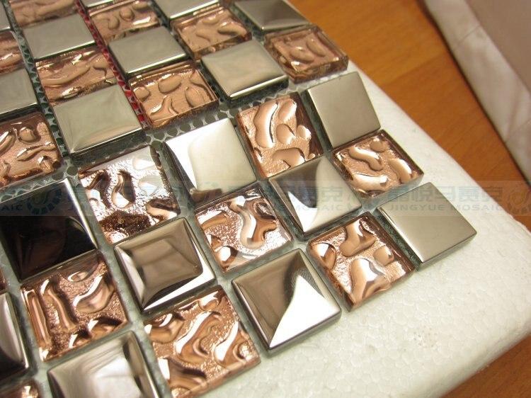 Oro rosa espejo de plata cristal azulejo backsplash de la cocina ...