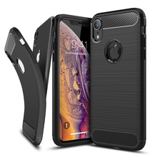 Bumper for iPhone XS Case Cover Max Luxury Carbon Fiber Silicone Soft TPU Shockproof XR Phone capa