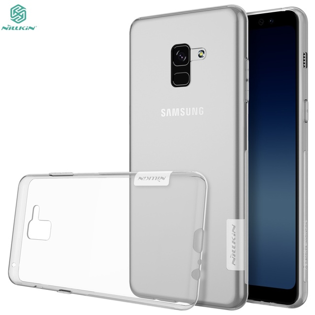 best sneakers 14e97 0f7da US $4.44 11% OFF|For Samsung Galaxy A8 2018 case A8+ 2018 Case NILLKIN TPU  Transparent Clear Soft Silicone Back Cover For Samsung A8 Plus 2018-in ...