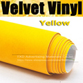 10/20/30/40/50/60X135C Auto Yellow suede fabric for car interior use adhesive sticker car wrap velvet film by free shipping