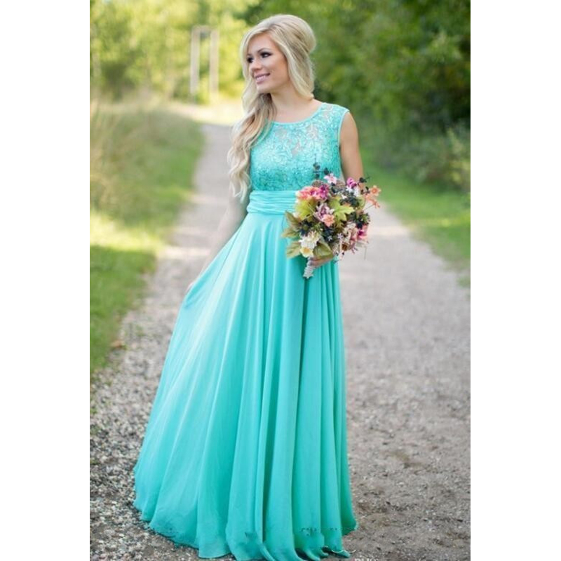 Aqua blue bridesmaid dresses sequins chiffon summer for Summer dresses for weddings