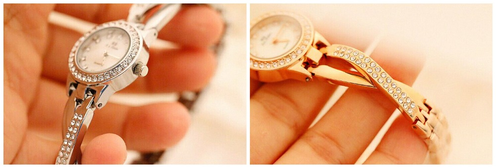 Image 3 - Top Brand Small And Elegant Ladies Watches Small Dial Watch Women Charm Bracelet Watch Girl Fashion Casual Watch Zegarek Damski-in Women's Watches from Watches