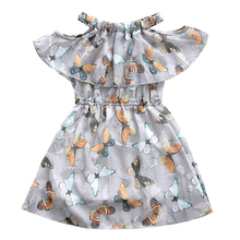 2018 Summer Girl Dresses Children Clothing Butterfly Dress for Girls Clothes Party Princess Dress Baby Kids Vestidos