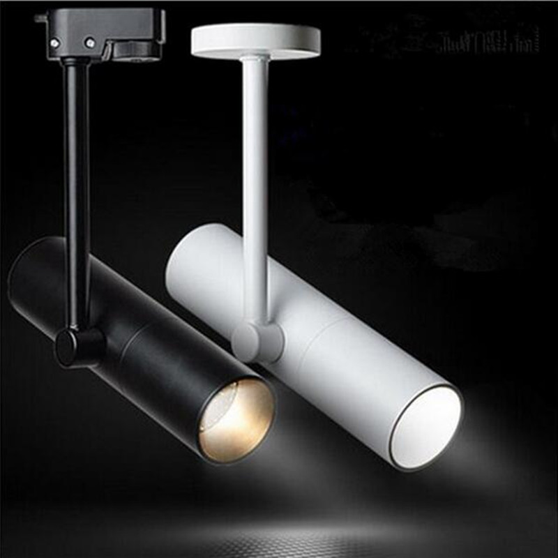 12w 15w adjustable led spotlight indoor track lighting dimmable 12w 15w adjustable led spotlight indoor track lighting dimmable ac110v 220v led rail lamps for clothing shoes store museum yrank in track lighting from aloadofball Choice Image