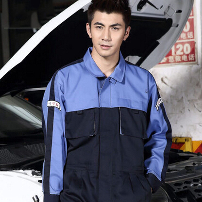 FASHION one piece car uniform one-piece auto service uniform coverall 4 colors available вытяжка каминного типа bosch dwk095g60r