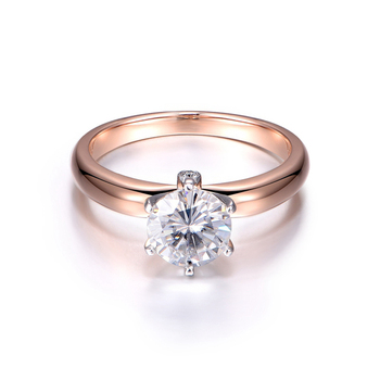 5 Carat Lab Grown Moissanite Diamond Solitaire Wedding Engagement Ring Solid 14K Rose White Gold 1