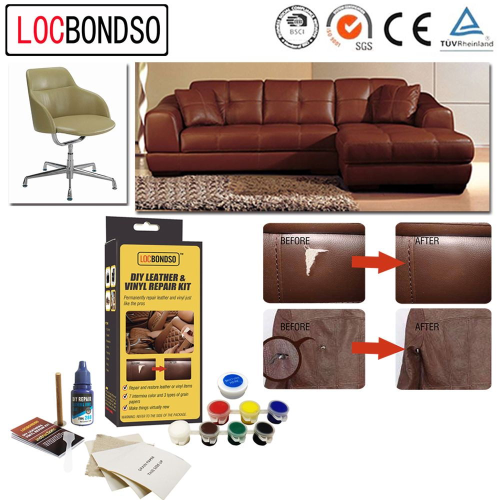 Leather Upholstery Repair >> Beige Leather Repair Kit Sofa Chair Burns Scuffs Holes Mobel