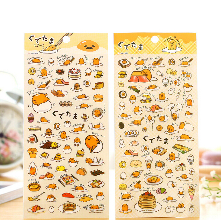 Novelty Gudetama Lazy Egg Cartoon Stickers Diary Sticker Scrapbook Decoration PVC Stationery DIY Stickers School Office Supply