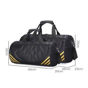 Image 5 - Ucuz spor spor çanta kadın erkek spor Yoga için naylon spor seyahat eğitim Ultralight spor ayakkabı küçük Sac De spor çantası
