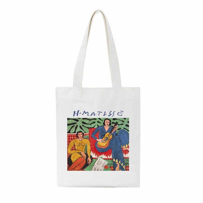 Musim Panas Fashion Matisse Seni Kartun Baru Kanvas Tas Menyenangkan Kapasitas Besar Rompi Korea Fashion Style In Wanita Vintage Fashion Tas Bahu