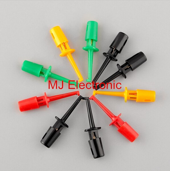 Electronic Test Probes : Pcs small size round single hook clip test probe for
