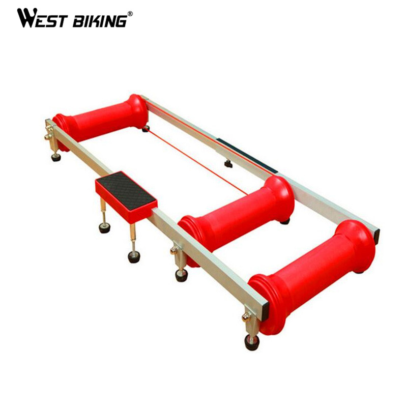 WEST BIKING Antiskid Training Station MTB Road Bike Exercise Bicycles Fitness Station Bike Cycling Bicycle Training Rollers