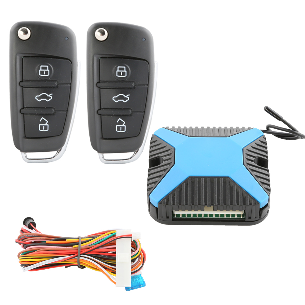Universal version car keyless entry system remote central door locking DC12V remote trunk release power window output