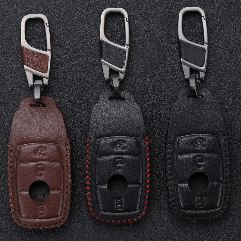 KUKAKEY Car Key Cases For Mercedes Benz New E Class E200 E260 E300 E320 W213 Remote Keyless 3button Cover Bag Fob Shell
