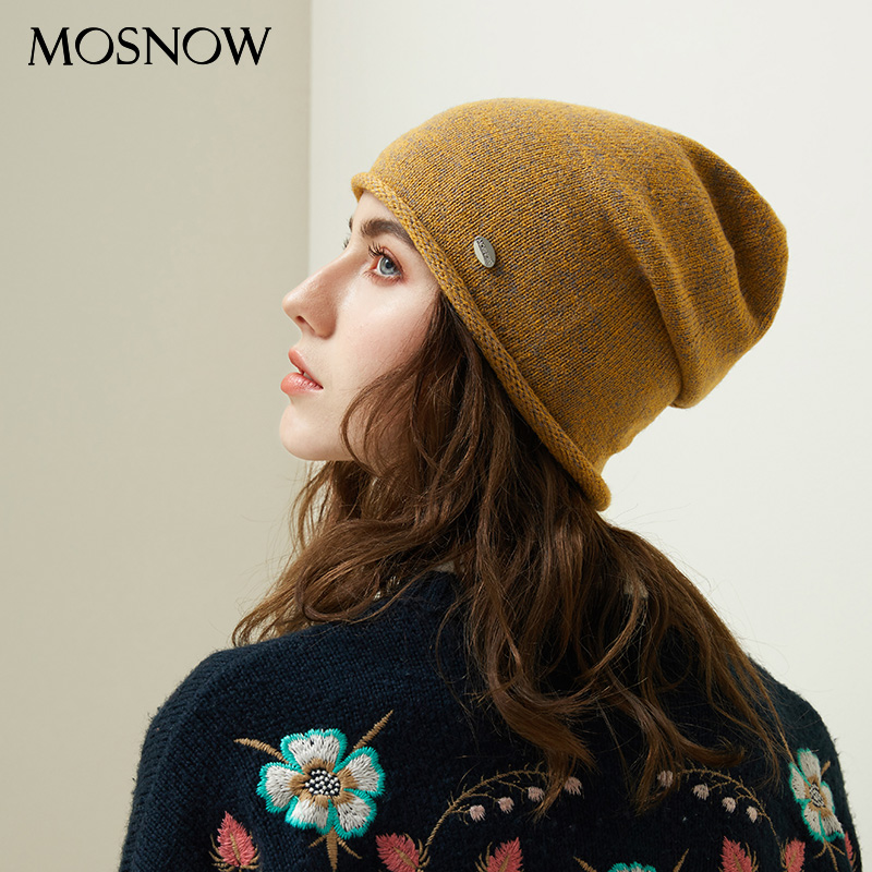 Women Beanie Hats Female 2019 New Winter Knitted Slouchy Caps Wool Warm Beanies For Girl Candy Color Young Stylish Hat
