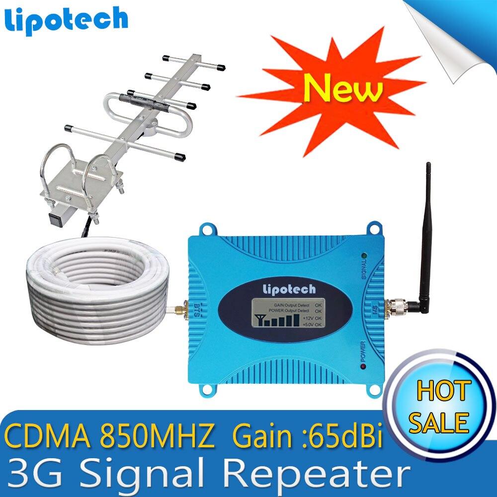 Neu!! 1 Satz LTE Band 5 (850 CDMA) Gain 65dB 3G Signalverstärker CDMA 850 mhz Upgrade repetidor de celular Handy LCD Booster