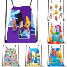 Custom Bubble Guppies Drawstring Backpack Bag Cute Daypack Kids Satchel  (Black Back) 31x40cm  532cdf20a0ab2