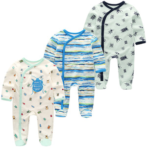 Image 2 - 2019 Kız Giyim Unisex 0 12 M Pamuk Bodysuits Bebek Kız Giysileri Yeni Doğan Yıldız Çizgili Erkek Bebek Giysileri Ropa bebe 2/3 ADET