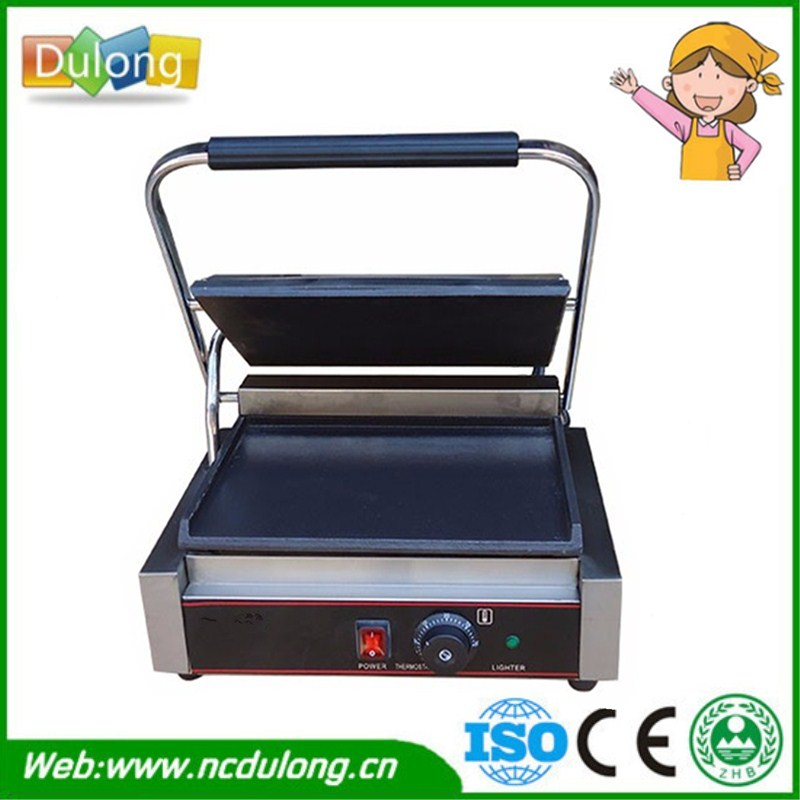 Kitchen Equipment Smokeless Energy Saving Stainless Steel Electric Griddle Machine Contact Grill Three Models For Choose stainless steel electric grill griddle teppanyaki griddle dorayaki grill machine with double temperature controllers