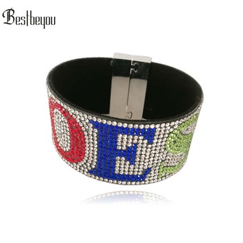 1pc Customized OES Logo rhinestone jewelry fancy gift bangle bracelet