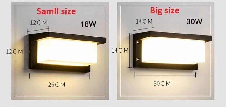 Iluminação led ao ar livre sensor de