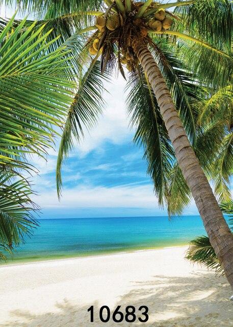 Sjoloon Vinile Sfondo Spiaggia Di Sabbia Di Mare Naturale Boschi