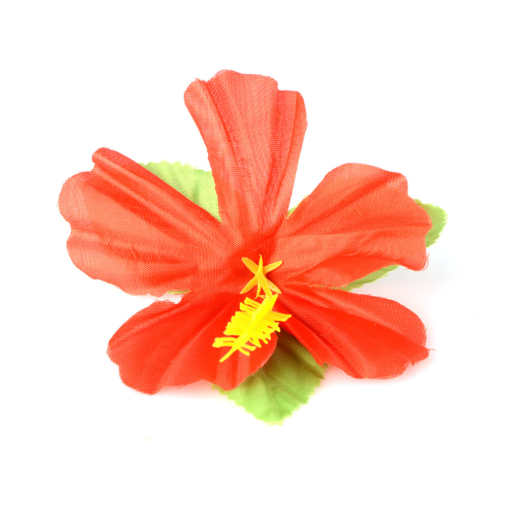 54pcs Party Decor Supplies Tropical Palm Leaves Hibiscus Flowers