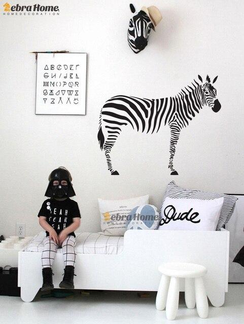 DIY Zebra Wall Decal Sticker For Living Room Art Vinily Murals Wallpaper  For Children Baby Nursery