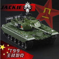 Free Shipping T 99 MBT Tank China Alloy Armored Vehicles 1 48 Pull Back Sound Light