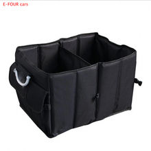 E-FOUR Car Trunk Box Nonwoven Fabric Waterproof Four Pockets Bag Stowing Tidying Accessories Glove Upgrade for