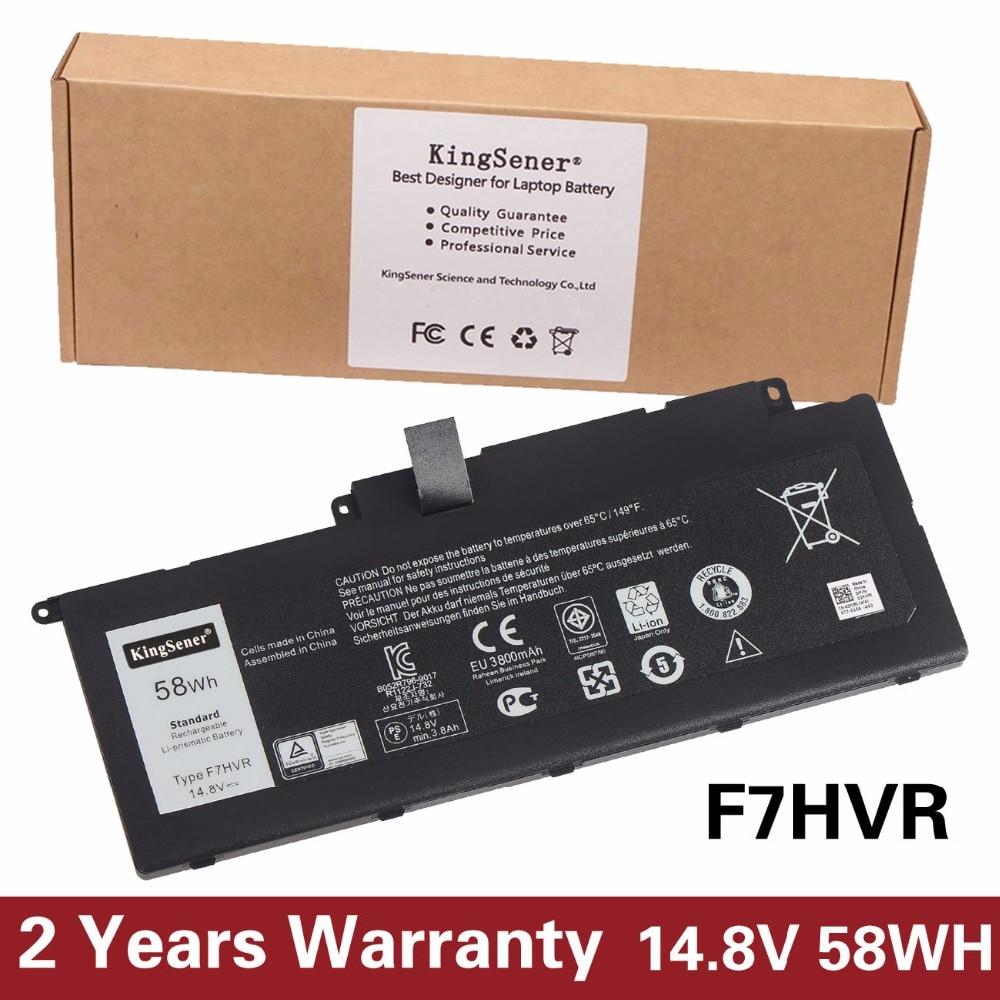 14.8V 58WH KingSener New F7HVR Laptop Battery For DELL Inspiron 15-7537 14-7437 17-7737 17HR-1728T F7HVR Free 2 Year Warranty dell inspiron 3558