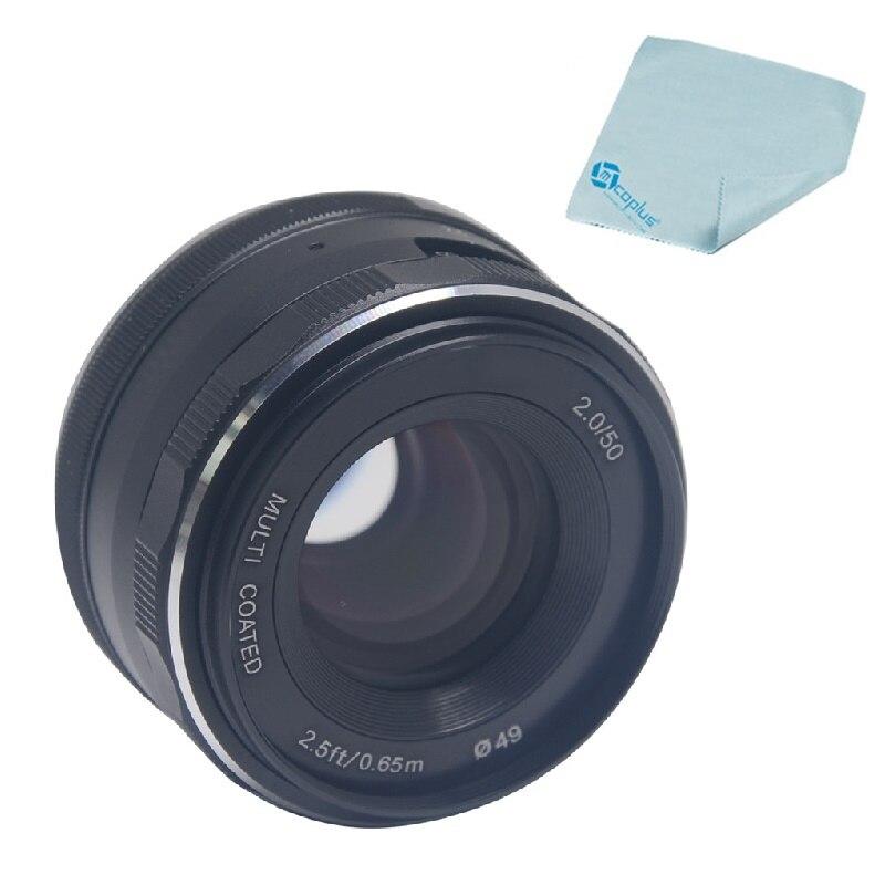 Objectif de mise au point manuelle fixe Mcoplus Meike 50mm f/2.0 Prime grande ouverture pour appareil photo EF-M sans miroir à montage APS-C Canon EOS M1 M2 M3