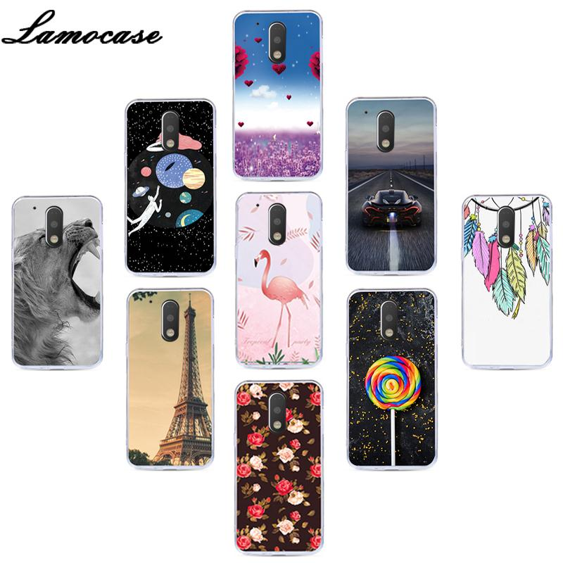Lamocase Color Pattern Phone Case For MOTO G4 Play Soft Silicon Cover For Motorola MOTO G4 Play G 4 Play Clear Back Cover Cases image