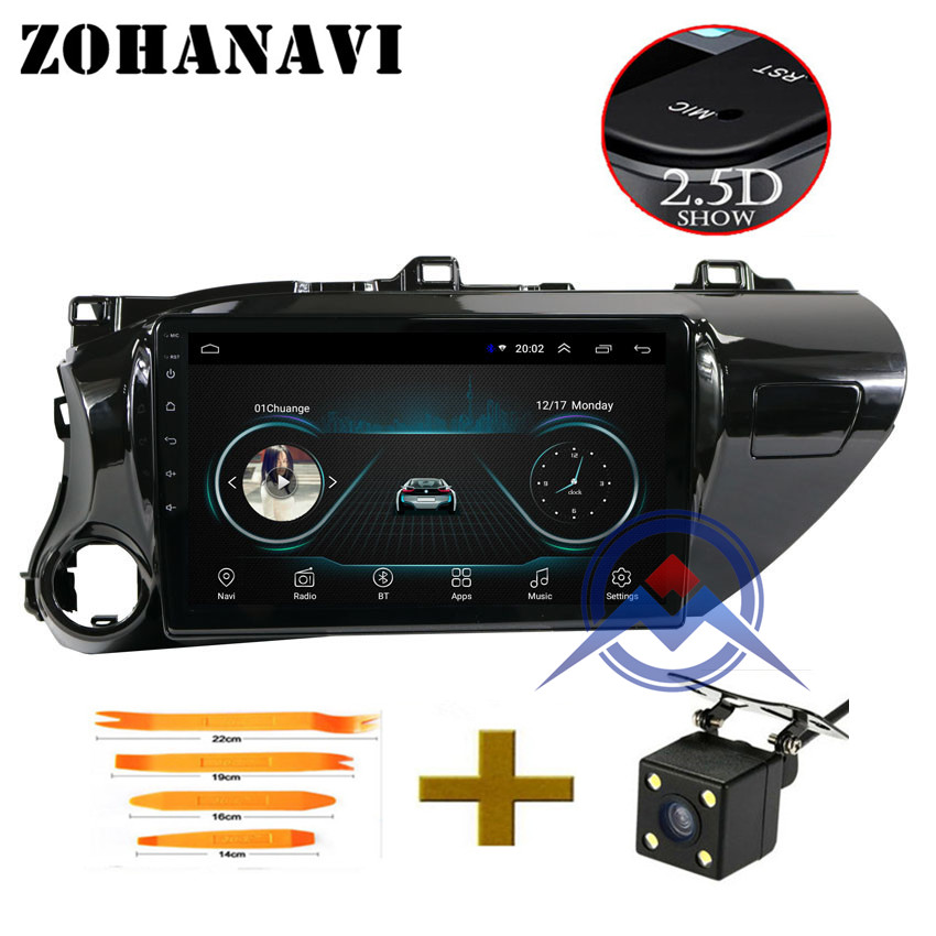 ZOHANAVI 10 1 inch Android 8 1 Car radio for TOYOTA Hilux 2017 2018 Car DVD
