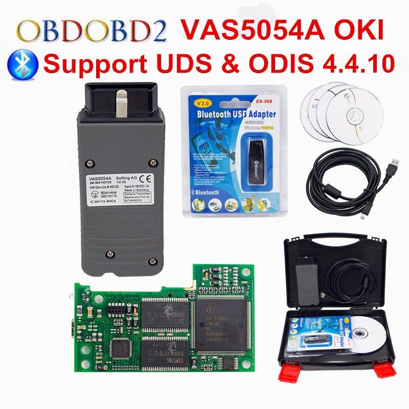 OKI Plein Puce VAS 5054A ODIS V4.4.10 Bluetooth VAS 5054 Une Voiture Outil De Diagnostic Wifi 6154 Scanner Pour VW OBD2 de Diagnostic VAS5054A