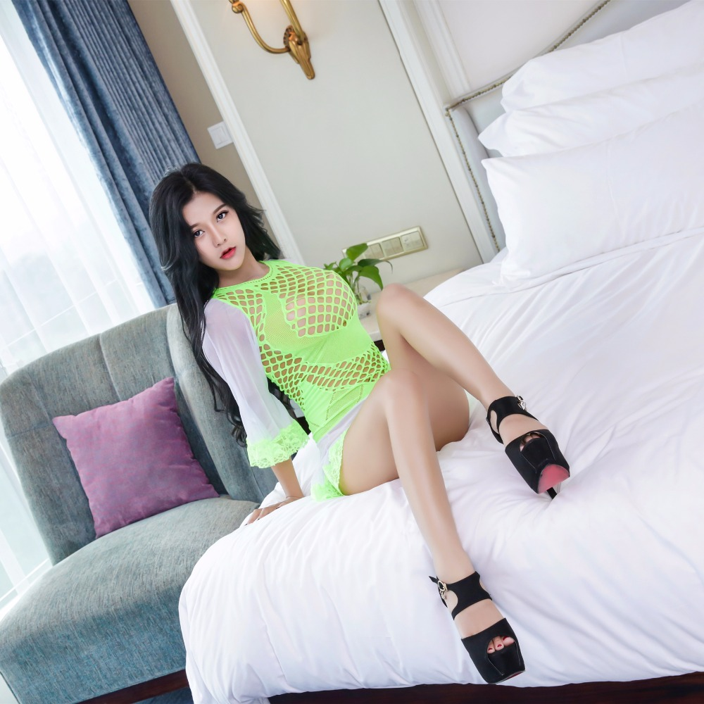 Sexy Bodystocking Women Lingerie Sexy Hot Erotic Costumes Woaixdd Open Crotch Sheer Bodysuit Long Sleeves Sexy Underwear